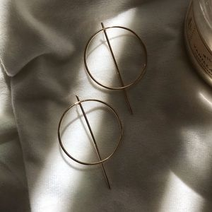 Jewelry - Gold Circle Earrings